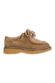 women's classic suede lace up laced formal schoenen