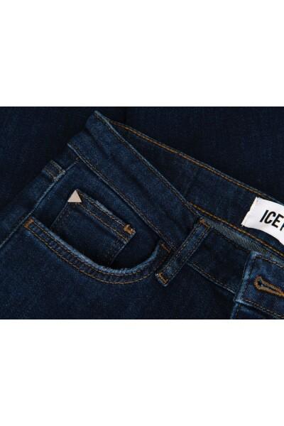 Dark Blue Jeansy Ice Play Dopasowane