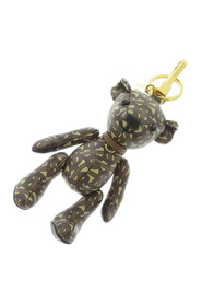 Thomas Bear Charm Key Chain Leather Calf