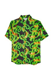 Fire Dollar Bowling Shirt