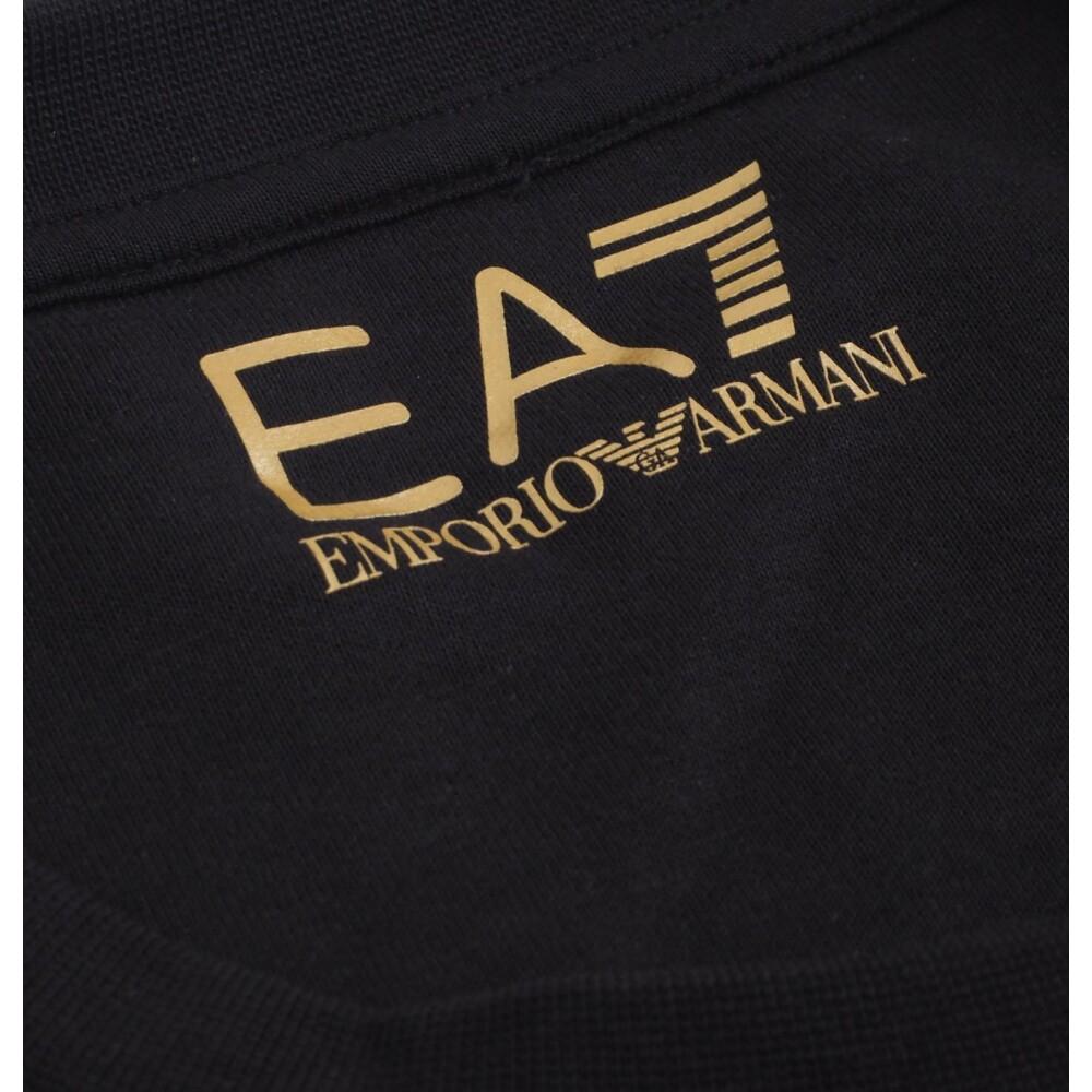 Black Large Logo Sweatshirt | Emporio ArHereni EA7 | Hoodies  sweatvesten | Heren winter kleren
