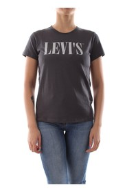 LEVIS 17369 0806 GRAPHIC TEE T SHIRT AND TANK Women GREY