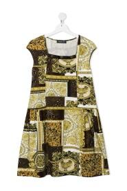 klänning i barocktryck