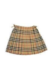 Vintage Check Pleated Skirt