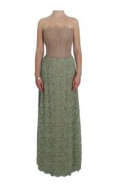 Blommor spets korsett Maxi klänning