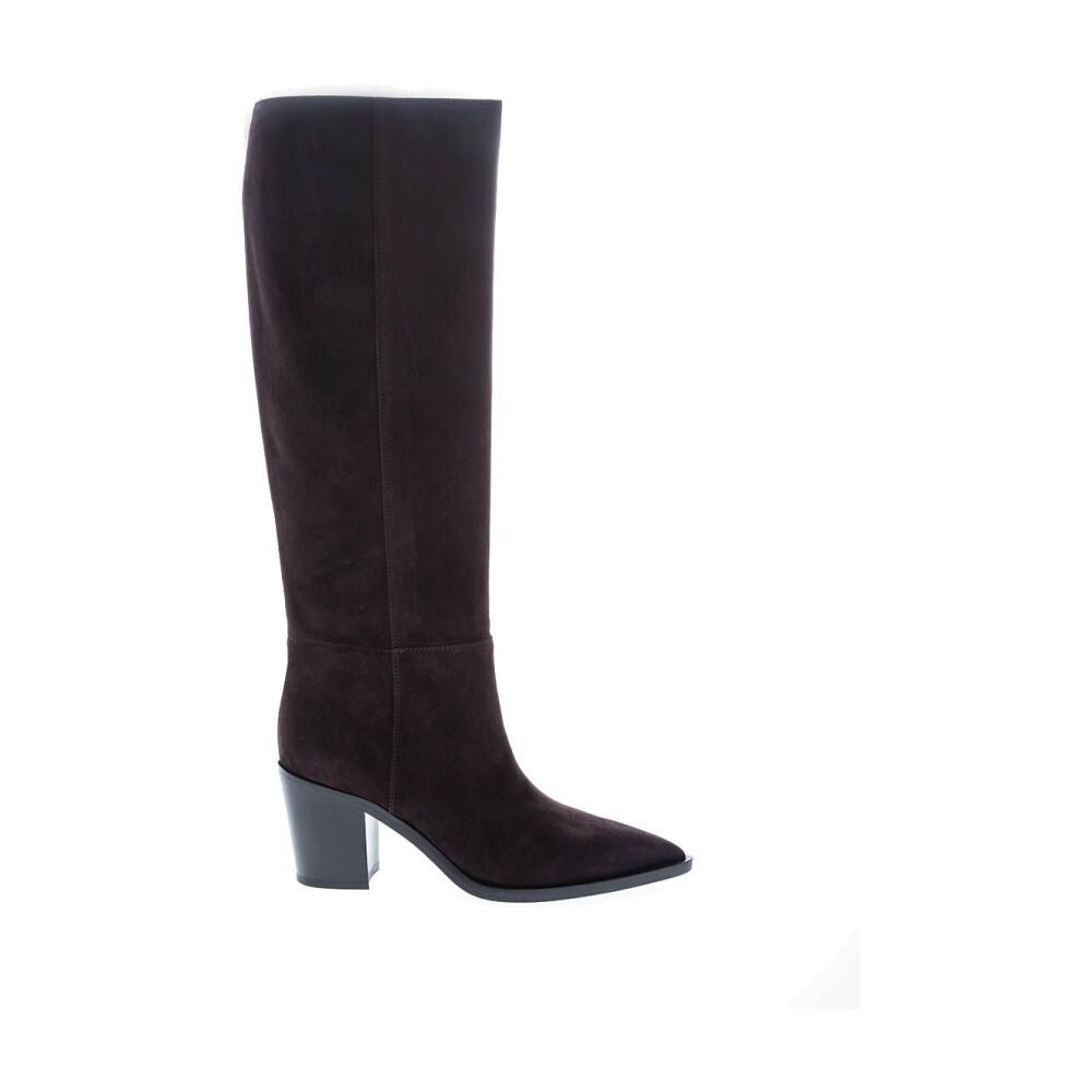 Black Texan style boots 70 | Gianvito Rossi | Overknee