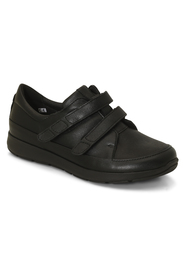 Plain Leather Stretch Shoes