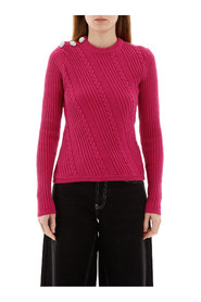 Crystal knop pullover