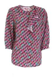 seasonal print blouse