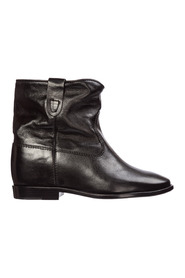 women's leather ankle boots booties cluster