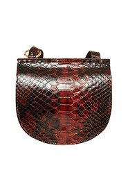 Paris Zaire python-effect leather bag