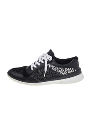 Leather And Mesh Low Top Sneakers