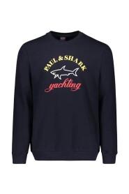 sweatshirt met logo in drie kleuren