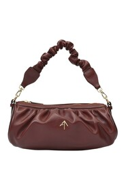 Ruched Cylinder Chain Bag