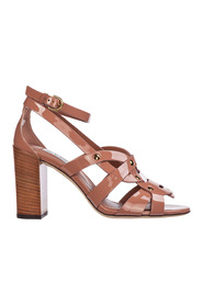 women's leather heel sandalen