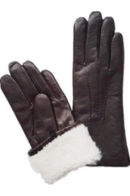 Warm Gloves Sheepskin Gloves Lambskin Gloves - Dark Brown