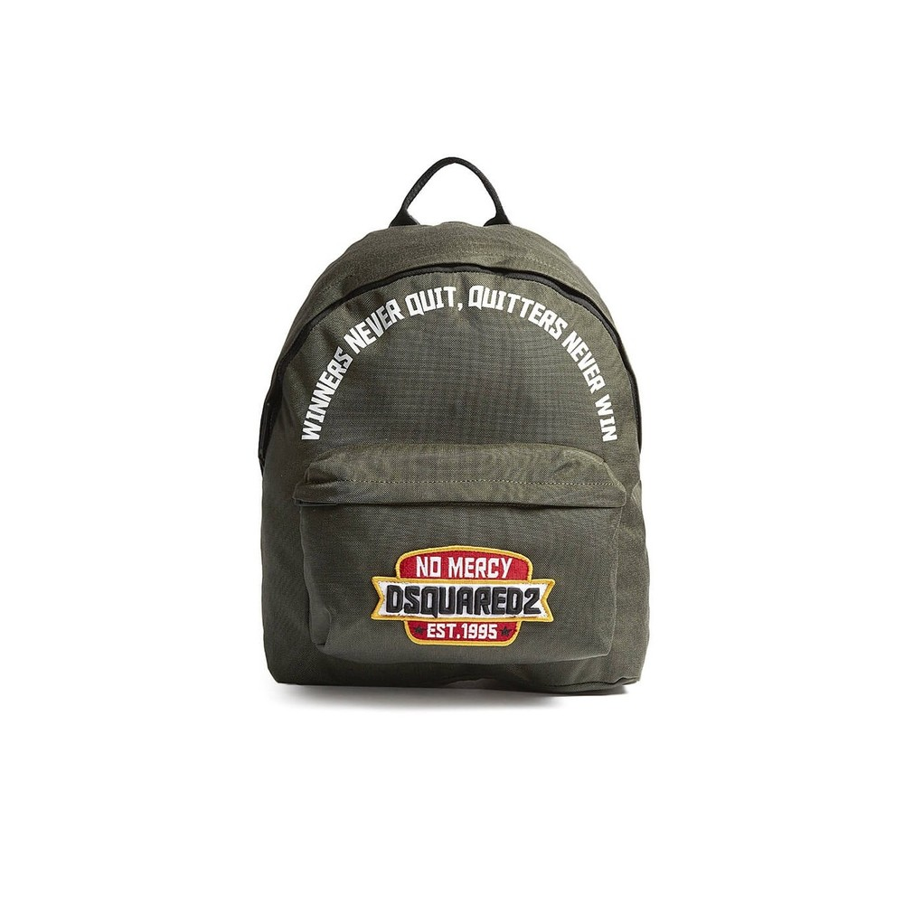 NO MERCY PATCH GREEN BACKPACK