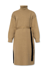 Dress with roll neck