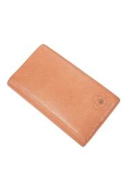 Pre-owned Camellia Embossed Long Bifold Wallet