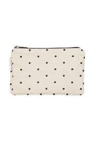 dotted zip purse