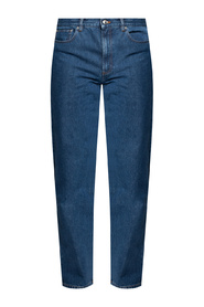 Jeans with tapered legs