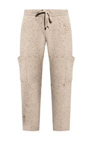 Woven trousers with holes