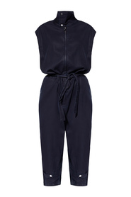 Jumpsuit with standing collar