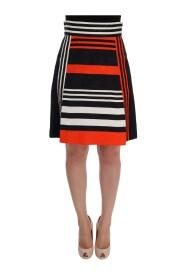 Striped Brocade Skirt