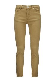 Diva cropped color trousers