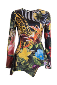 Jungle printed blouse