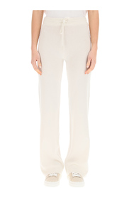 sports trousers in cashmere and wool