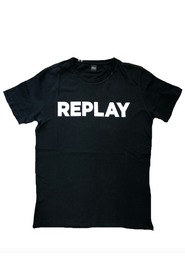 Sort Replay Printed Logo Tshorte