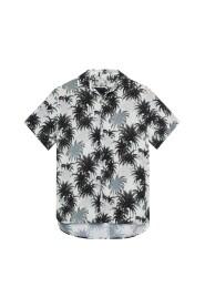 Luftig skjorte med hawaiiprint
