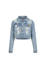 Creamie Jacket Denim Cropped Blue Denim