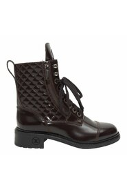 Brukte Quilted Leather Combat Boots