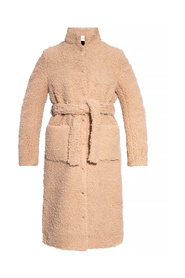 Coat with standing collar