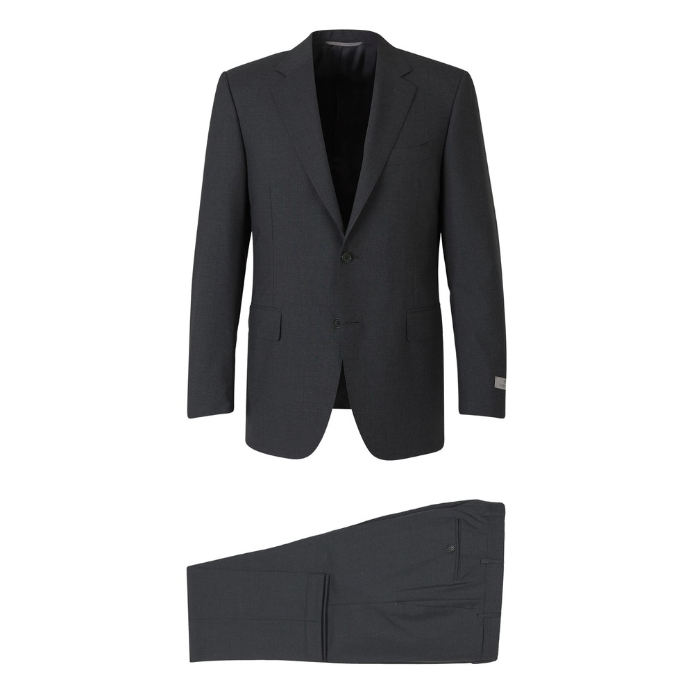 Canali Wool Travel Suit Grå
