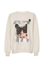 Rose Artwork Taped Picture Sweater