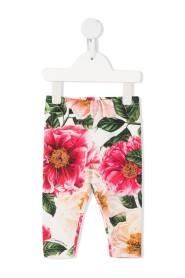 leggings med camellia-blomsterprint