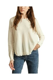 Mela H cashmere sweater with torn edges