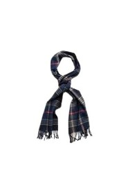 Twill Checked Wool Scarf
