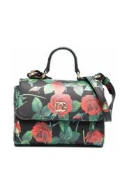 Rose-print tote bag