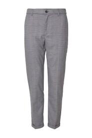 Pino Check Elastic Waist Pants