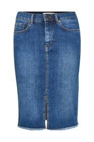 Blå Inwear Ditte Denim Skirt Skirts