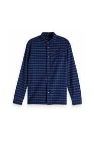 133271 REGULAR FIT Ams Blauw yarn dyed shirt in weaves and patterns