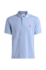 Light blue polo shirt with logo