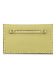 Pre-owned Rockstud Clutch Bag Leather Calf