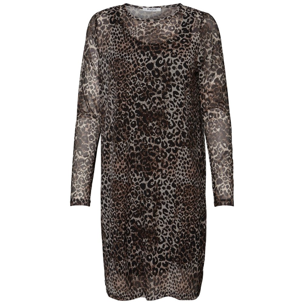 Long Sleeved dress Leopard printed