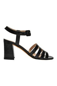 Palma High Sandals in Croc-Embossed Leather