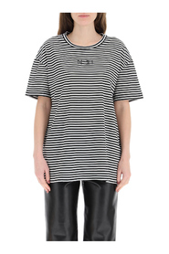 Striped t-shirt with logo pocket